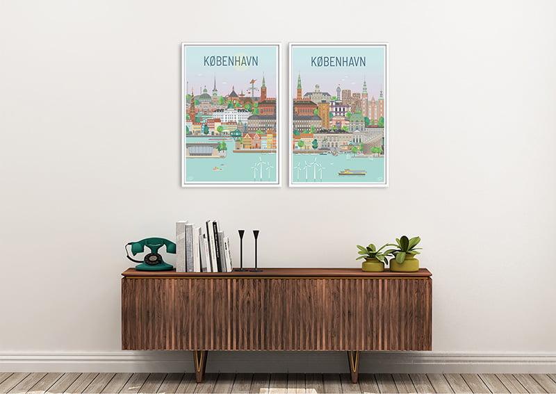 Koebenhavn Plakater Hvid 22 1