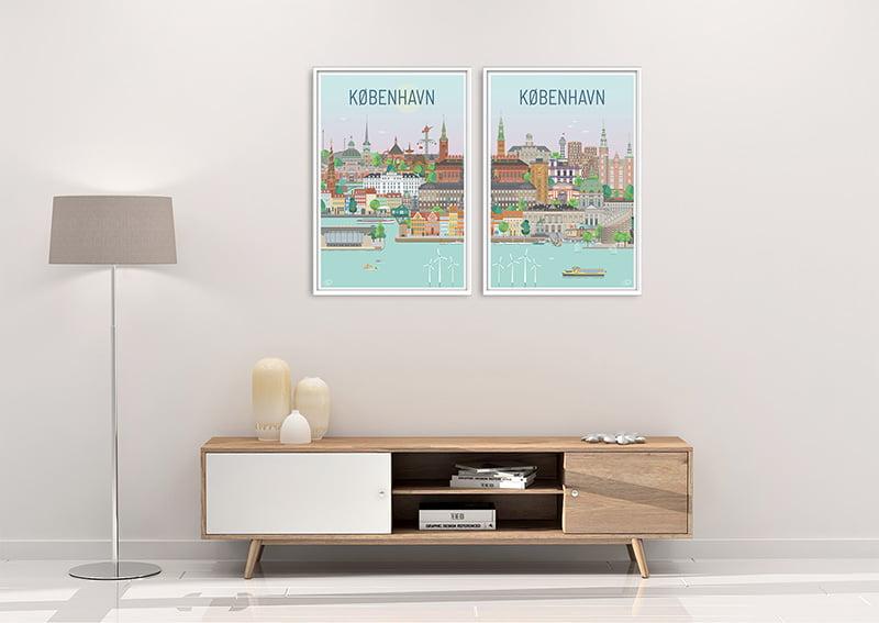 Koebenhavn Plakater Hvid 23 1