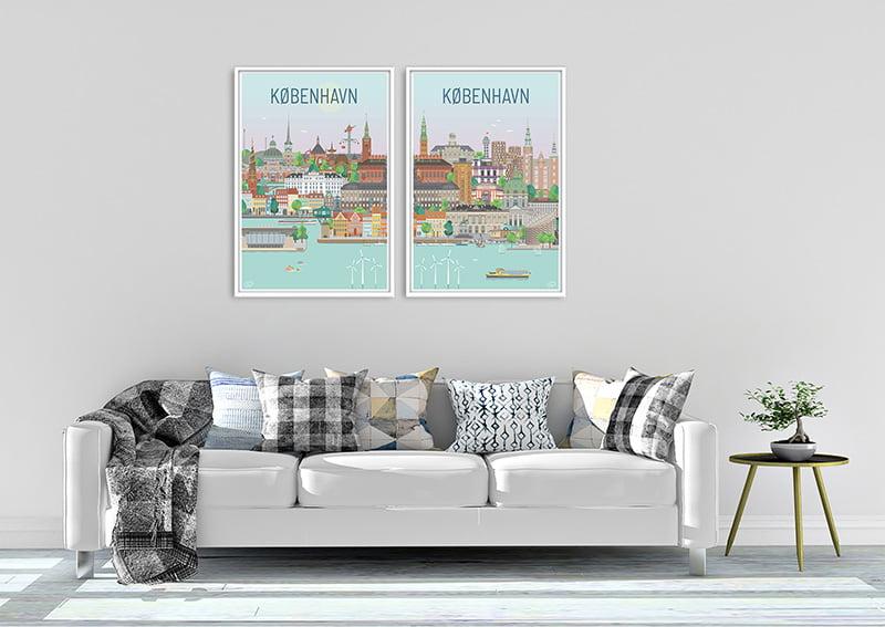Koebenhavn Plakater Hvid 24 1