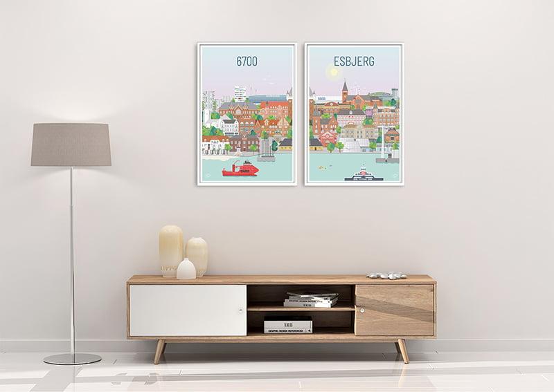 Esbjerg Plakater Hvid 23 1