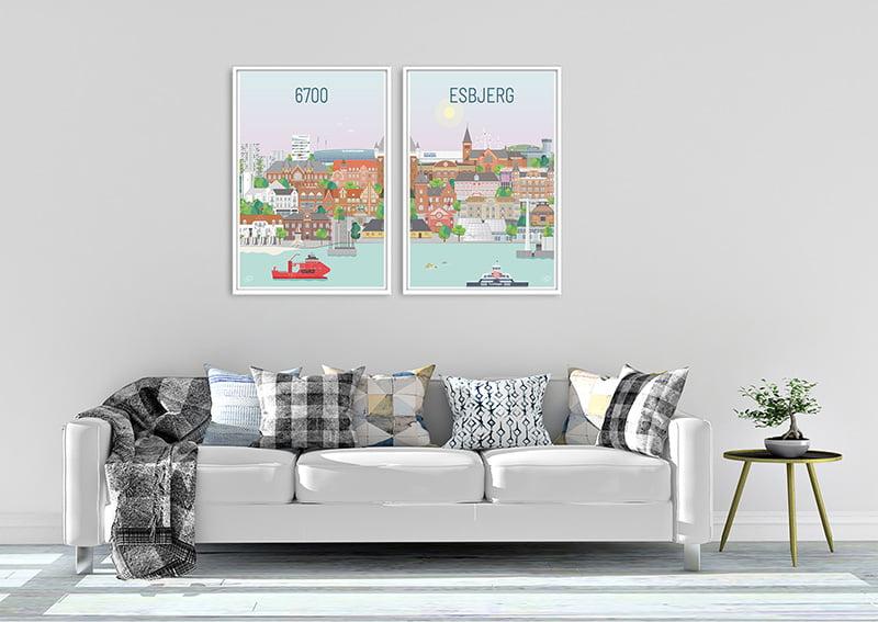 Esbjerg Plakater Hvid 24 1