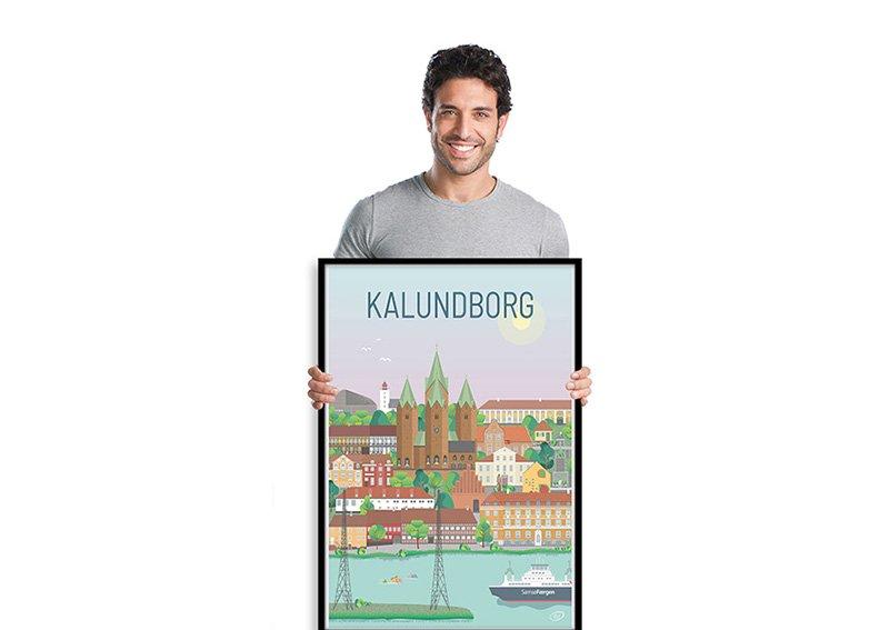 Kalundborg Plakat med sort ramme