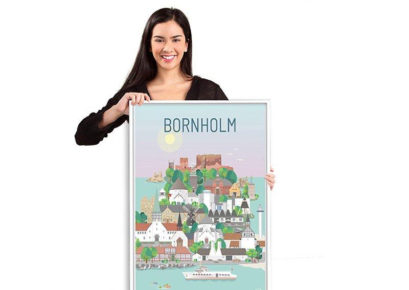 Bornholm Plakat Hvid 10