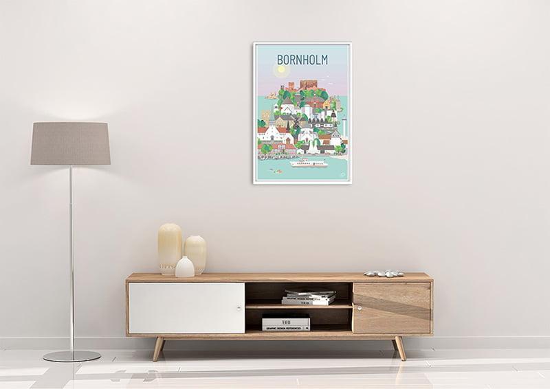 Bornholm Plakat Hvid 23 1