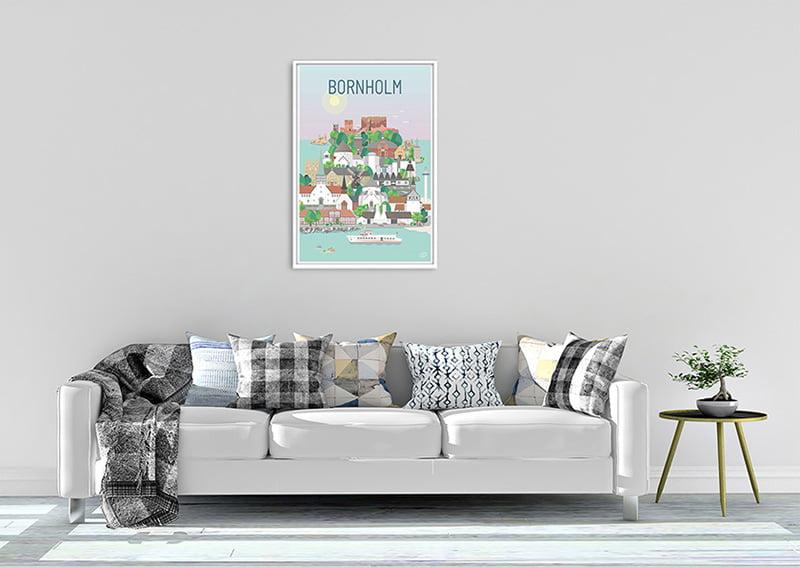 Bornholm Plakat Hvid 24 1