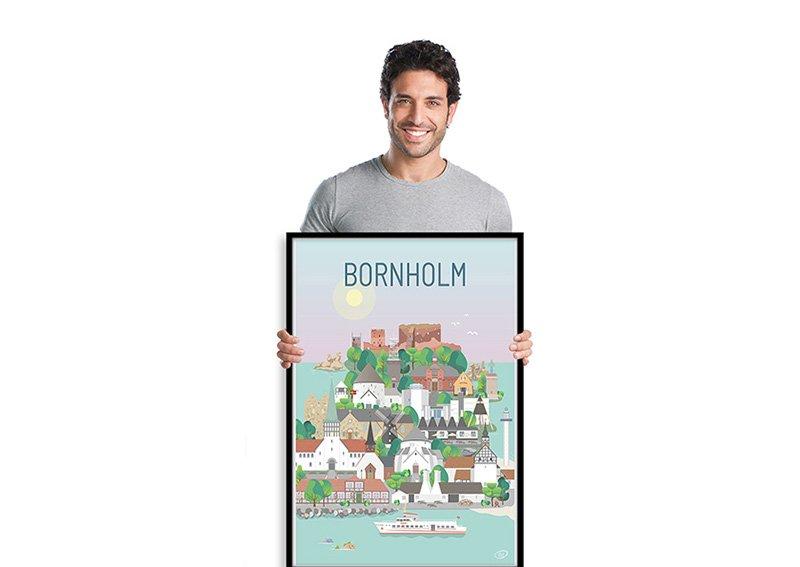 Bornholm Plakat Sort 001