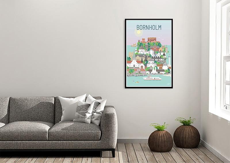 Bornholm Plakat Sort 01 1