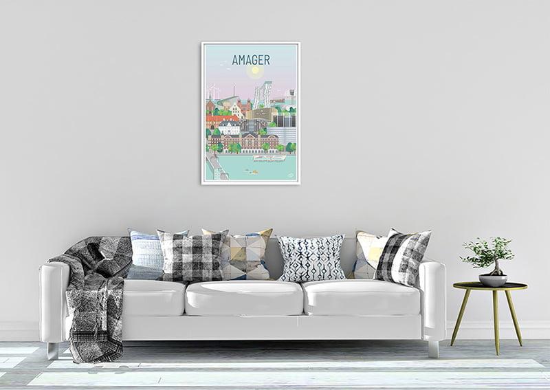 Amager Plakat Hvid 24 1