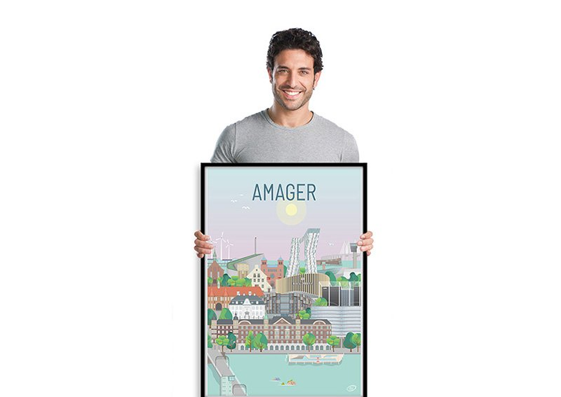Amager Plakat Sort 001