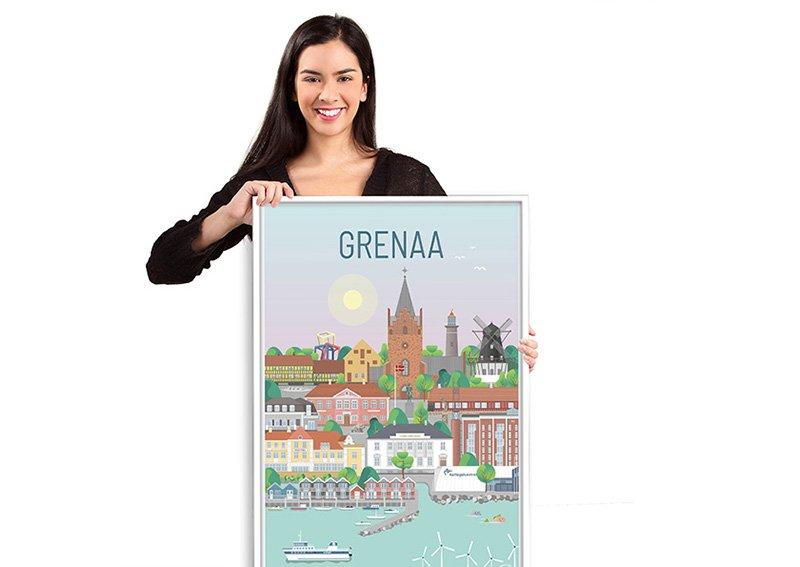 Grenaa Plakat Hvid 10