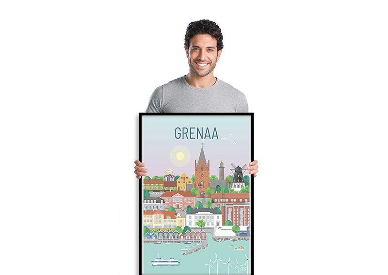 Grenaa Plakat Sort 001