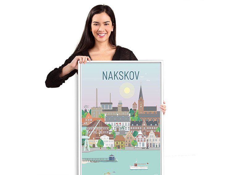 Nakskov Plakat Hvid 10